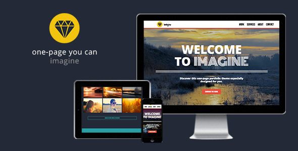 Imagine - One Page Muse Theme - Creative Muse Templates