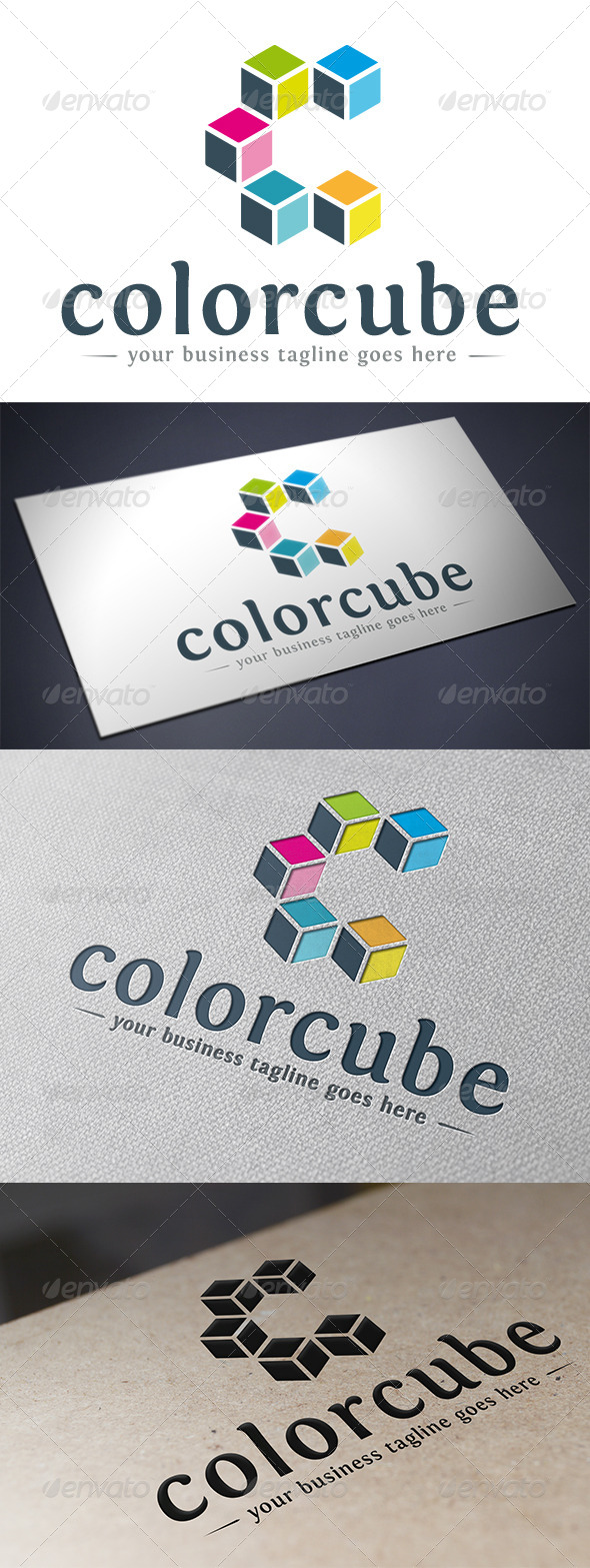 GraphicRiver Color Cube Logo Template 5592944