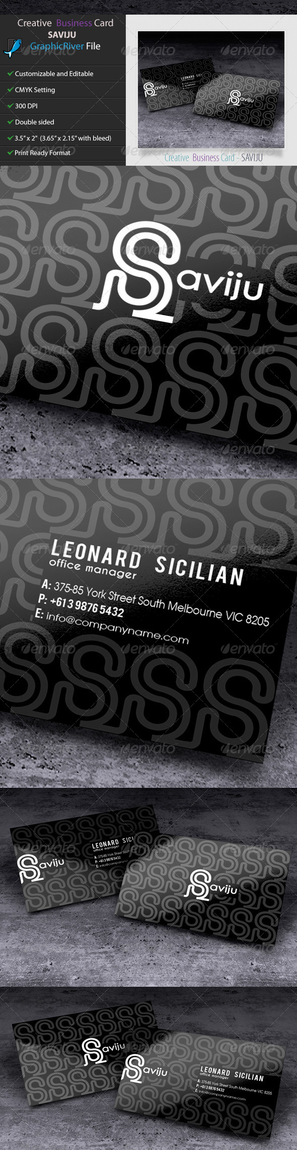 GraphicRiver Creative Business Card SAVIJU2 5592992