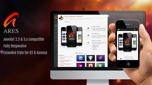 ThemeForest JSN Ares Creative Joomla Portfolio Template 5586087