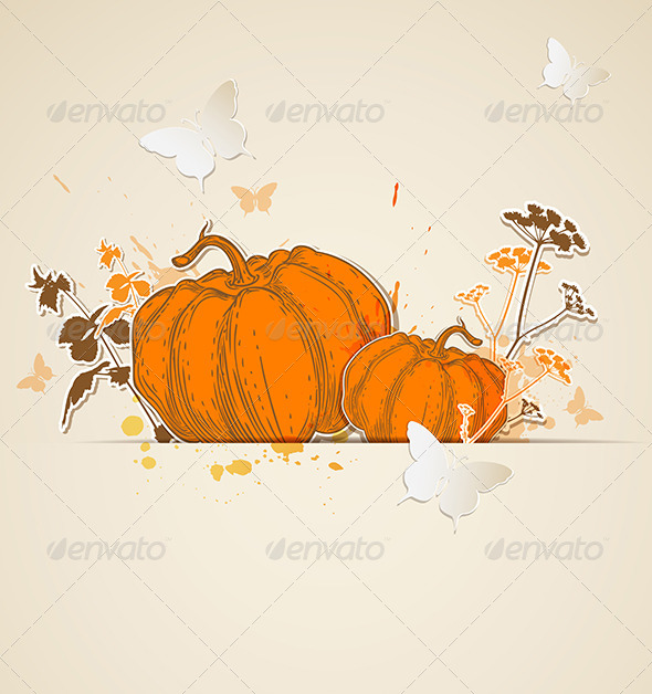 GraphicRiver Autumn Vector Background 5593113