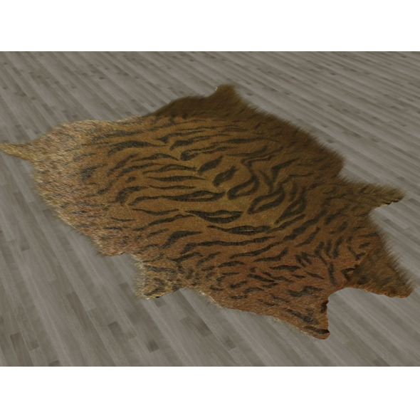 Tiger Skin Fur Rug - 3DOcean Item for Sale