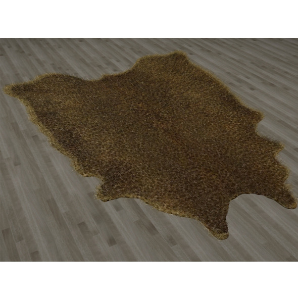 Leopard Skin Fur Rug - 3DOcean Item for Sale