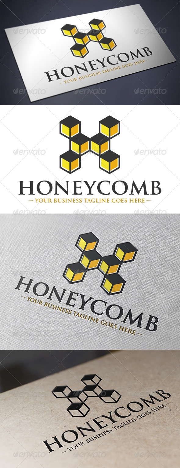 GraphicRiver Hexagon Honey Comb Logo 5593206