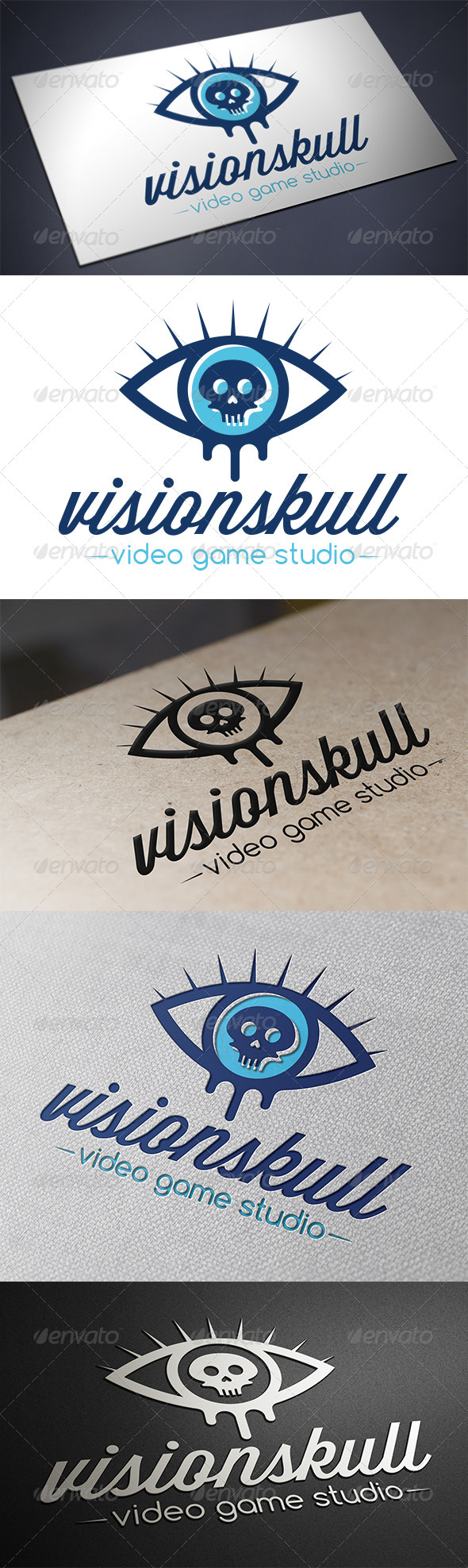 Skull Eye Logo Template