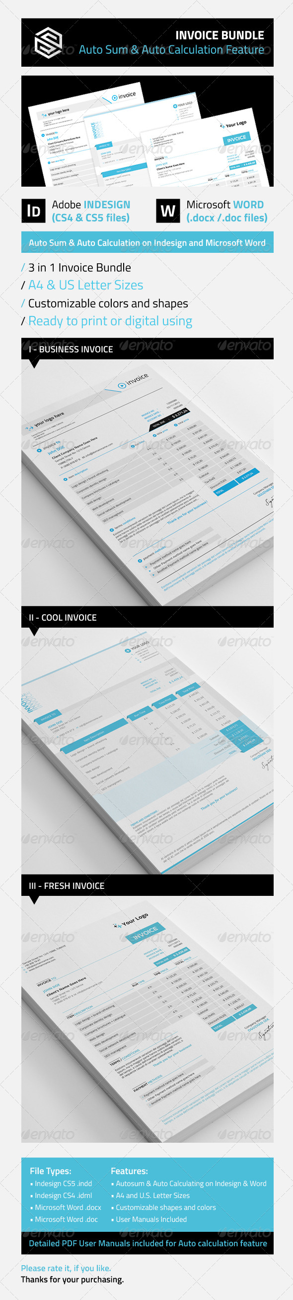 GraphicRiver Invoice Bundle 5593685