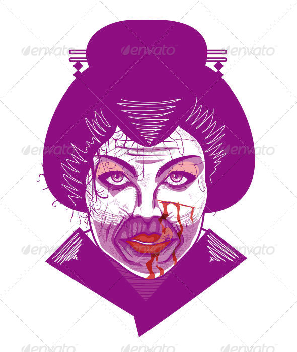 GraphicRiver Bloody Geisha 5593875