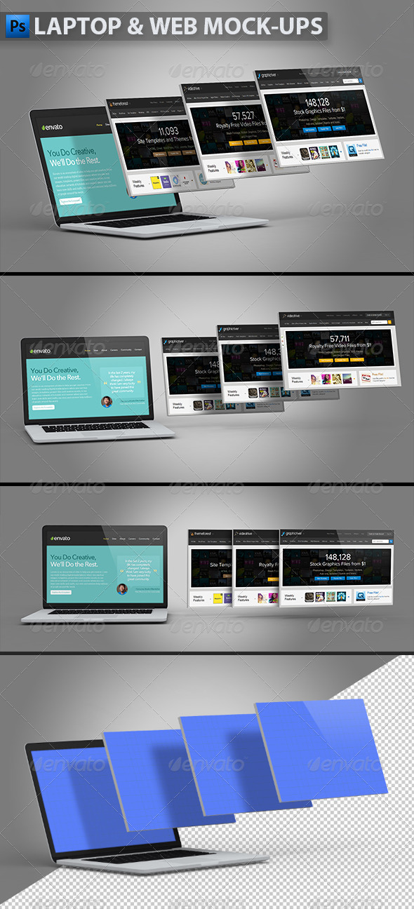 GraphicRiver Laptop and Website Mock-ups 5593957