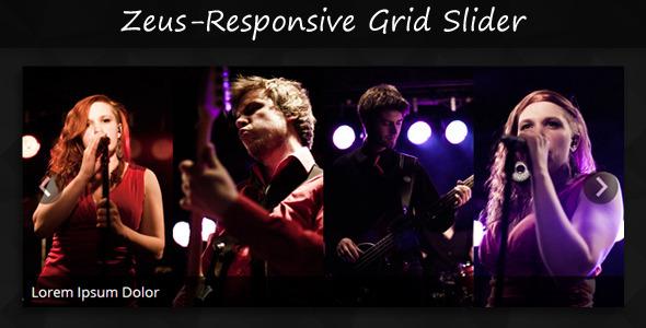 ZEUS - Responsive Jquery & CSS3 Grid Slider