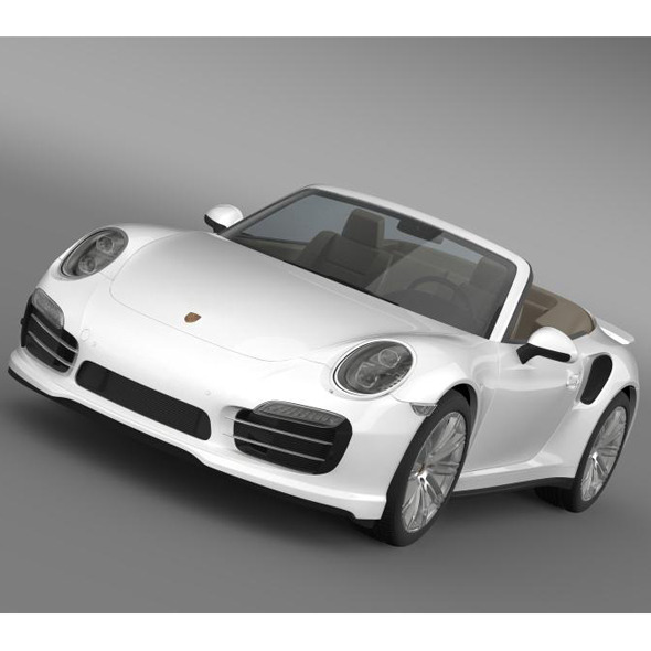 3DOcean Porsche 911 Turbo Cabrio 2014 5594494