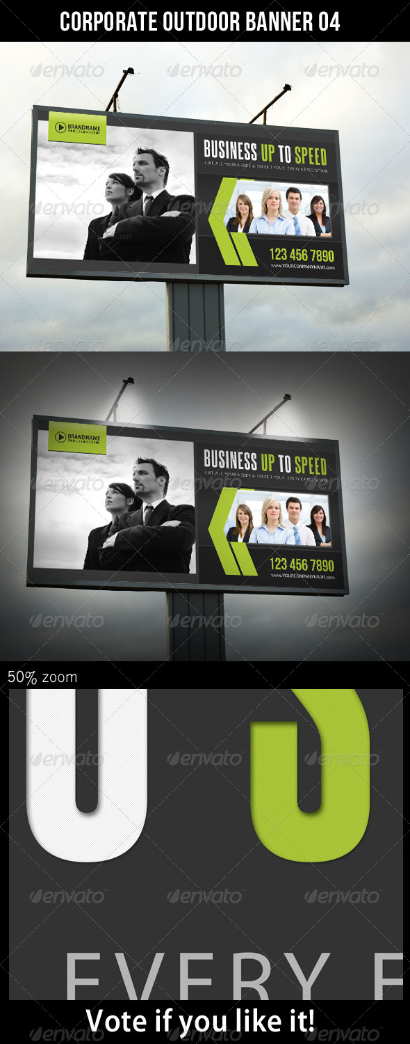 Corporate Outdoor Banner 06 - Signage Print Templates
