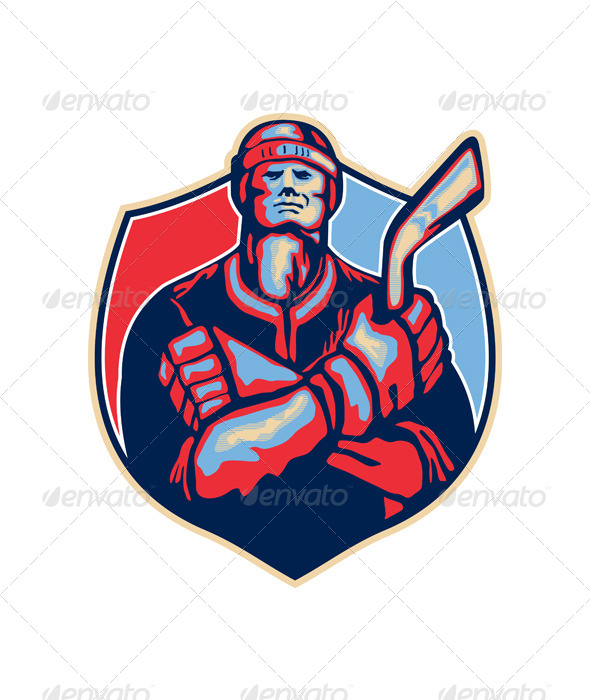 GraphicRiver Ice Hockey Player Front 5595329