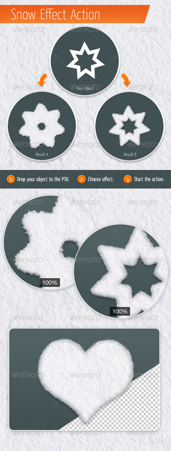 GraphicRiver Snow Effect Action 5595365