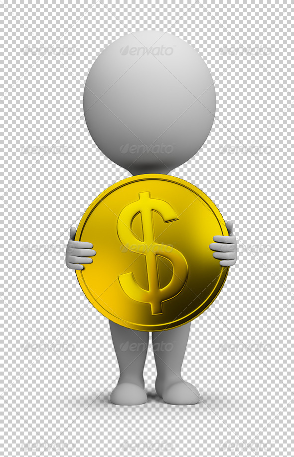 GraphicRiver 3D Small People Gold Coin 5595429