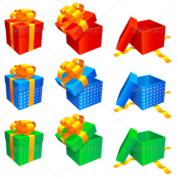 GraphicRiver Gift Boxes 5595613