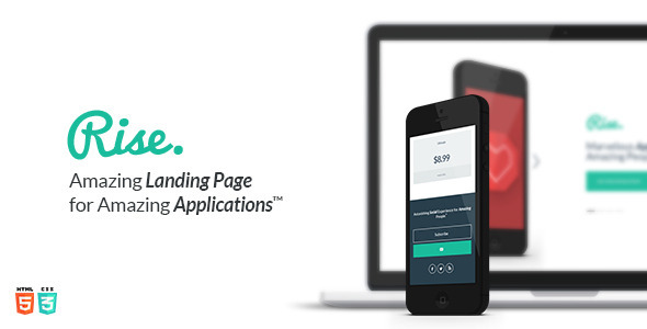 ThemeForest Rise Landing Page 5513316