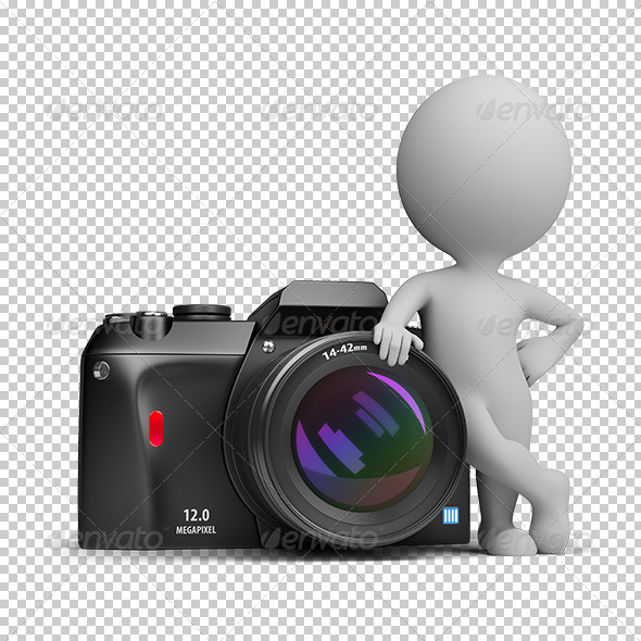 GraphicRiver 3D small people digital camera 5559217