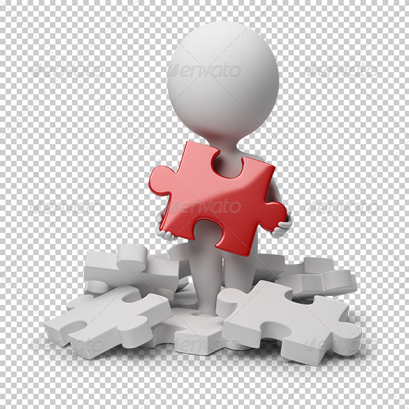 GraphicRiver 3D small people found puzzle 5545140