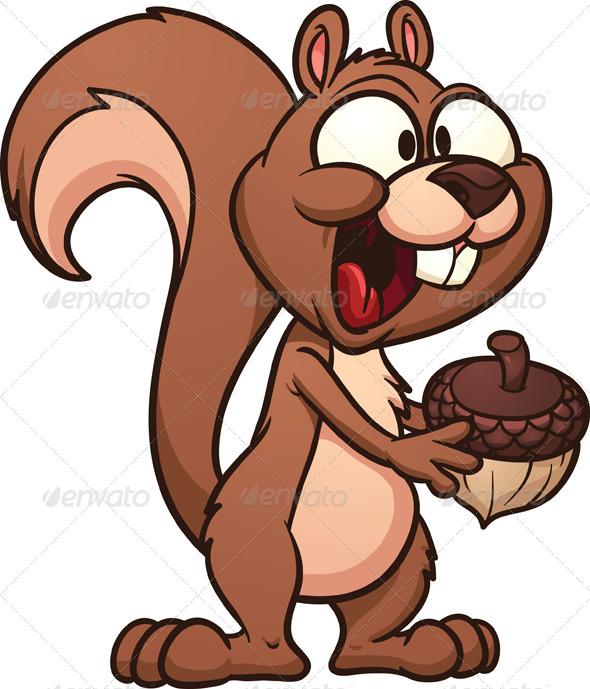 GraphicRiver Cartoon Squirrel 5596147