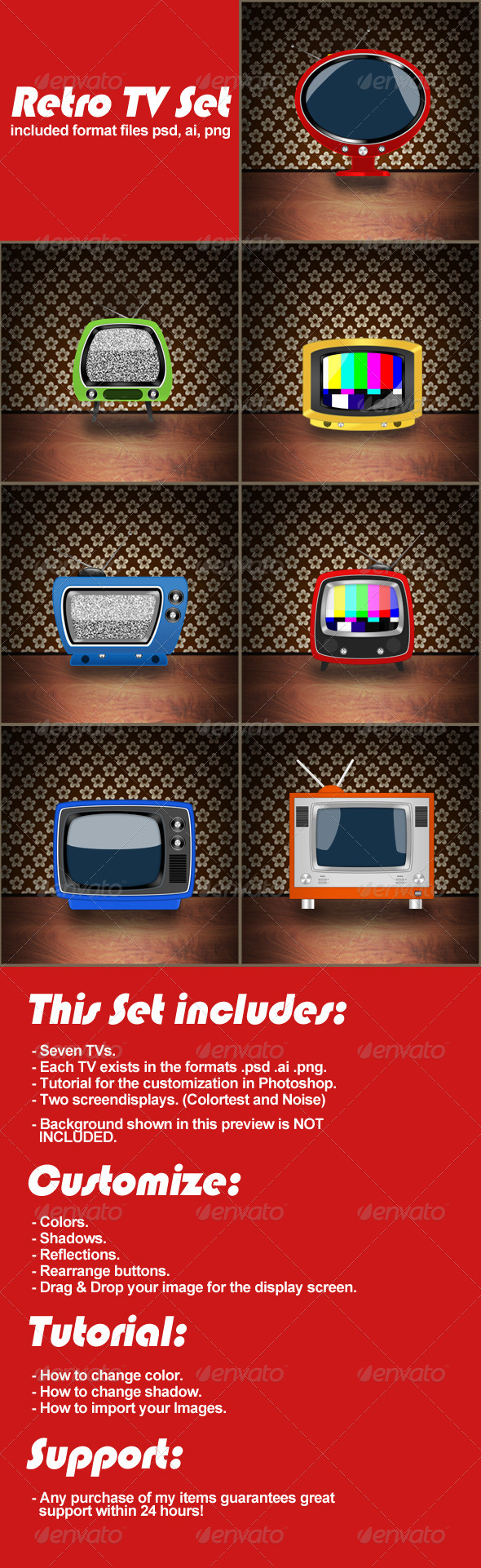 GraphicRiver Retro TV Set 5581963