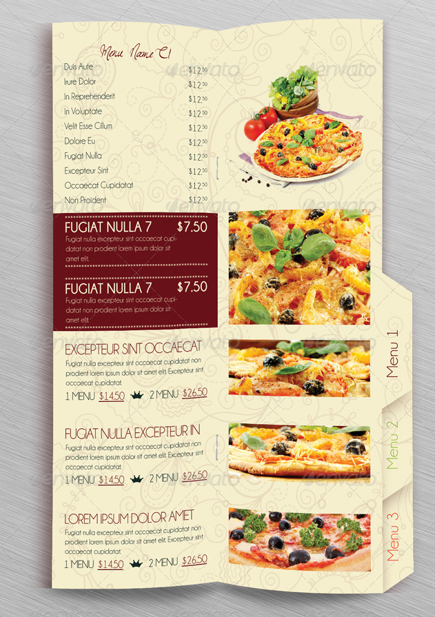 Table of content restaurant menu by erseldondar graphicriver for The table restaurant menu