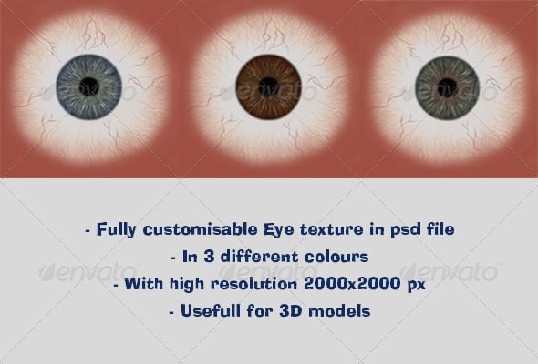 Realistic Eye Texture - 3DOcean Item for Sale