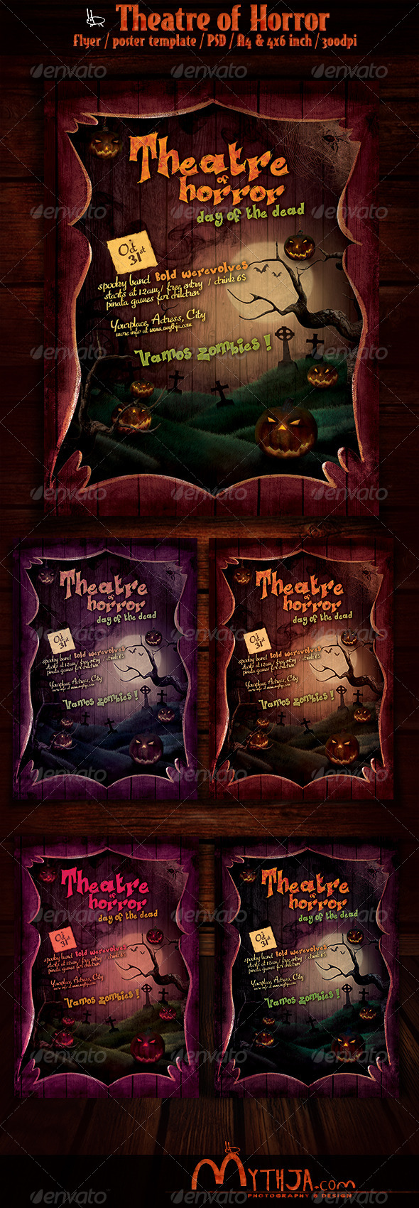 GraphicRiver Horror Theatre Halloween Flyer Poster Template 5596615