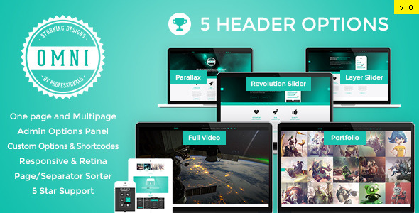 Omni – Responsive WP One / Multi Page Parallax