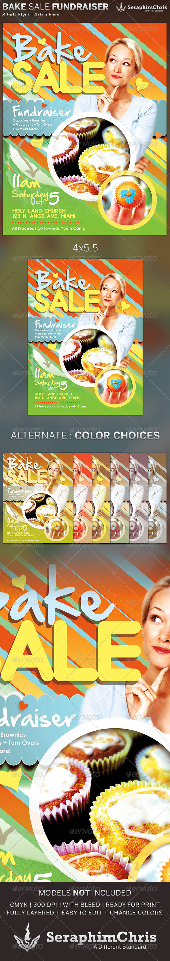 GraphicRiver Bake Sale Church Fundraiser Flyer Template 5596909