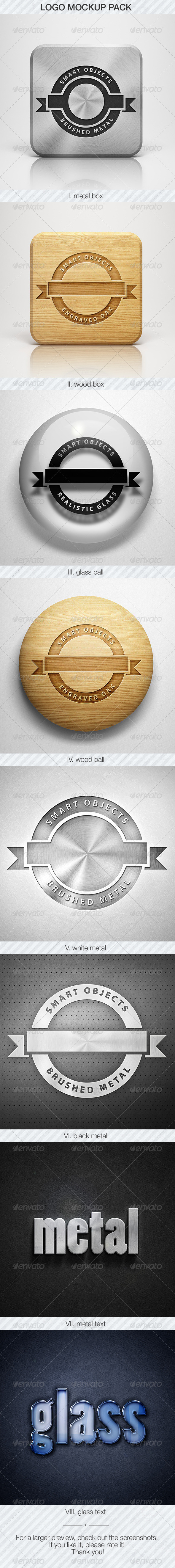GraphicRiver Logo Mockup Pack 5587096