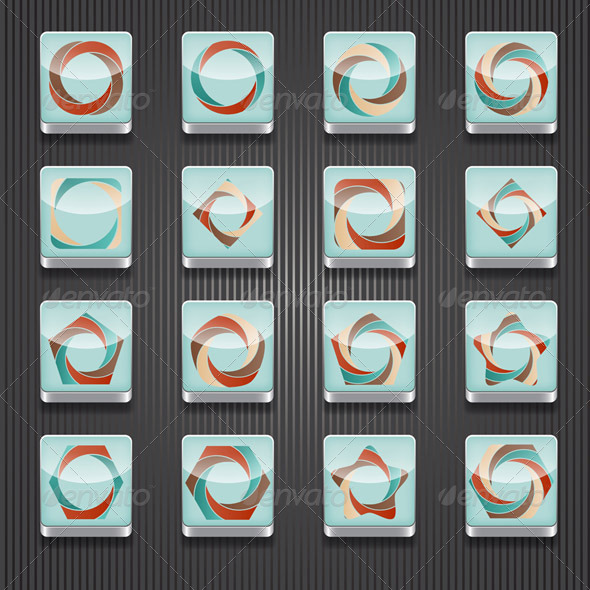 GraphicRiver 16 Vector Shiny Icons 5592388