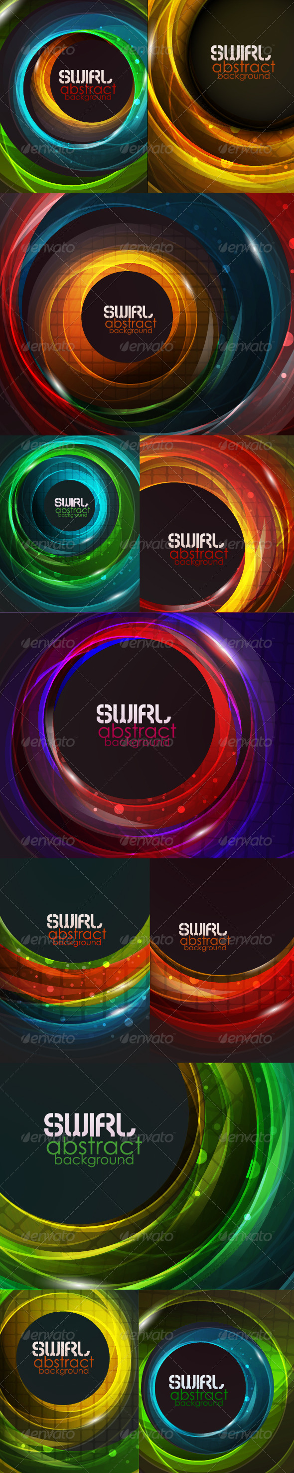 GraphicRiver Abstract backgrounds 575189