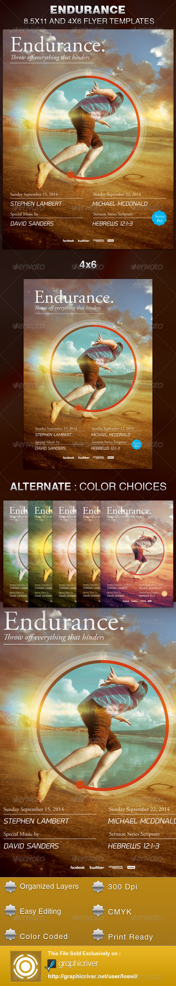 GraphicRiver Endurance Church Flyer Template 5597433