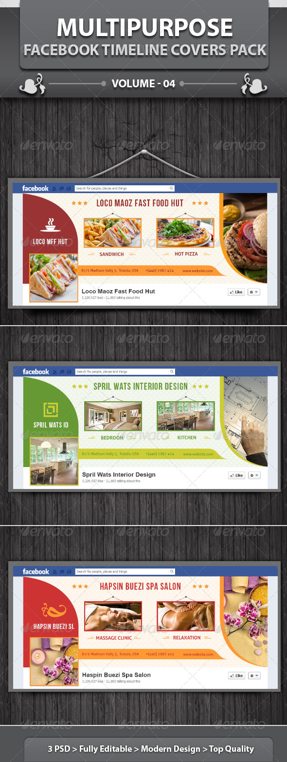 GraphicRiver Multipurpose Fb Timeline Covers Pack v4 5597461