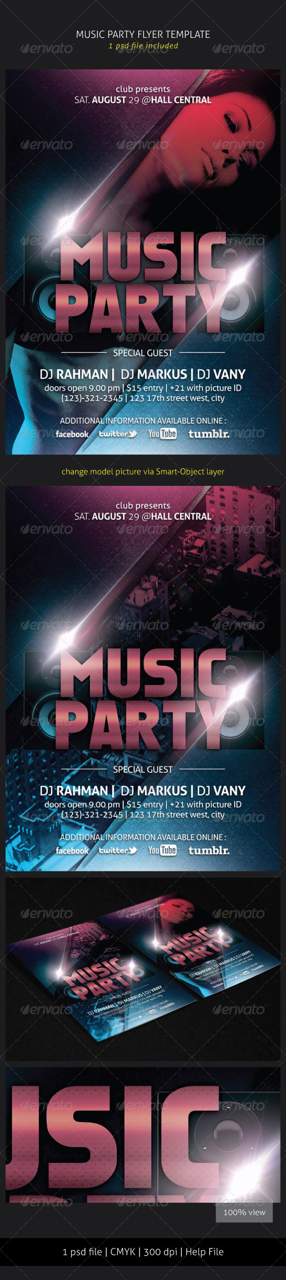 GraphicRiver Music Party Flyer 5597478