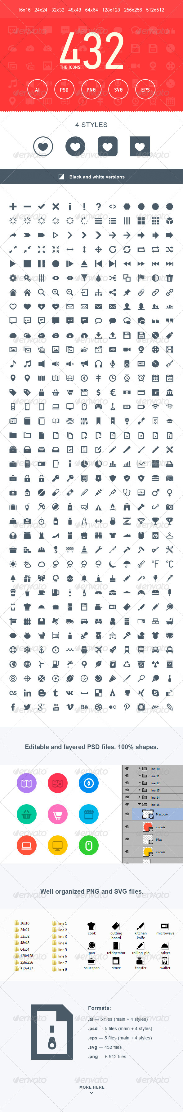 The Icons 432 - Web Icons