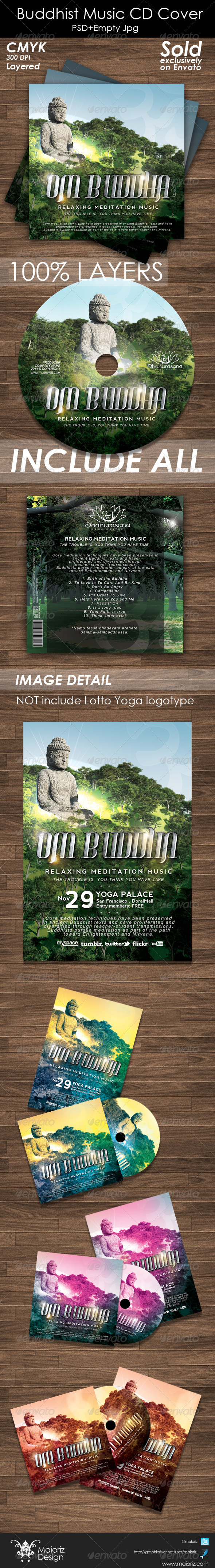 Buddhist Music Cd Cover - Print Templates