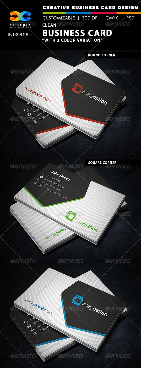 GraphicRiver Clean Business Card 5598090