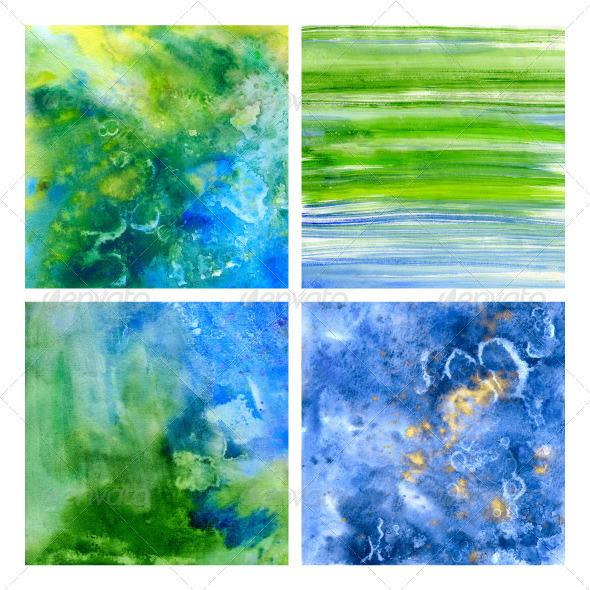 GraphicRiver Underwater Beautiful Watercolor Ttextures 5598145