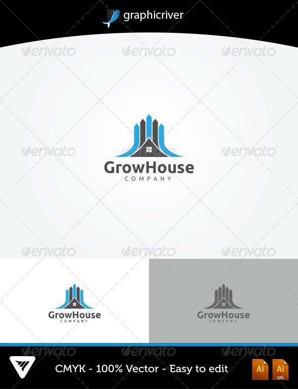 GraphicRiver GrowHouse Logo 5598168