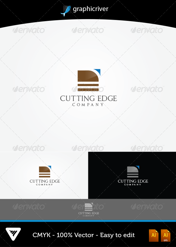 GraphicRiver Cutting Edge Logo 5598248
