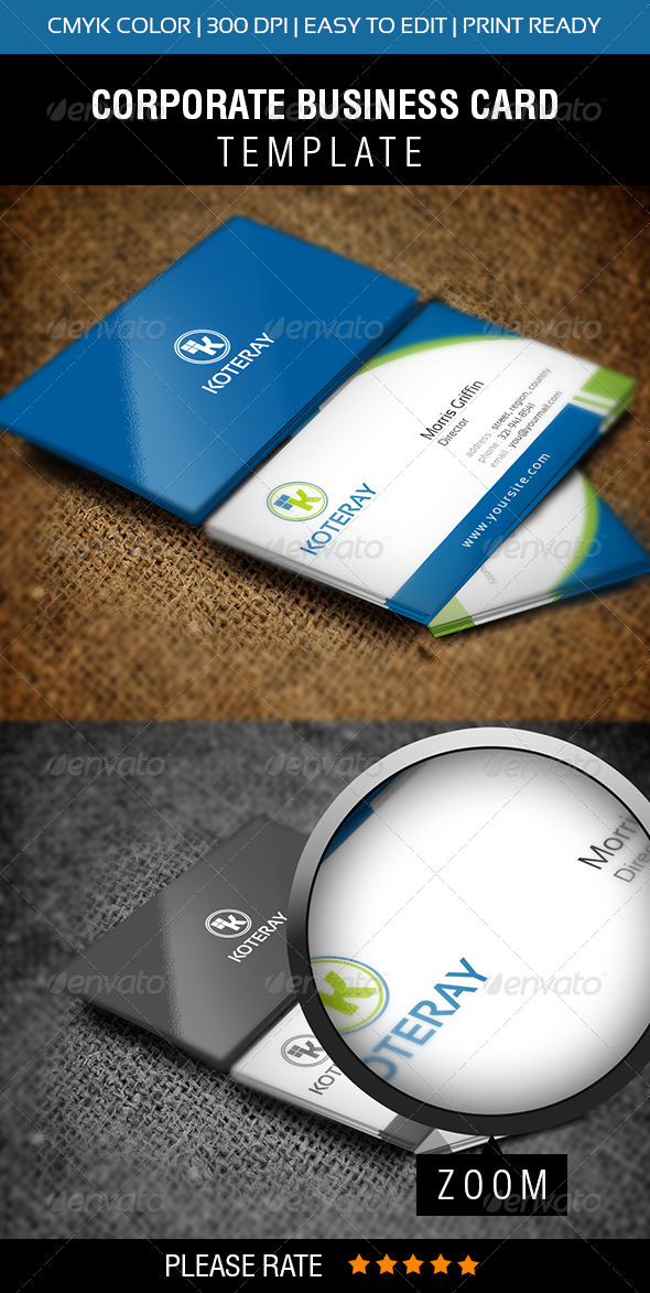 GraphicRiver Koteray Business Card 5598271