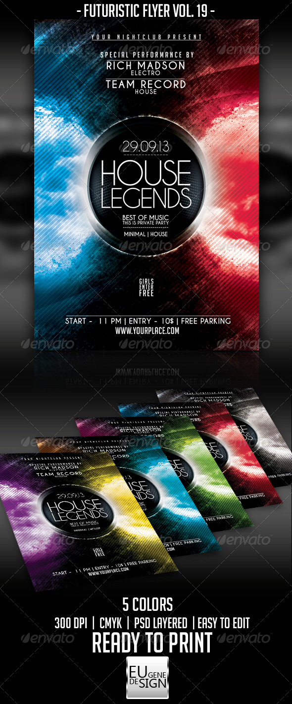 Futuristic Flyer Vol. 19 - Clubs & Parties Events