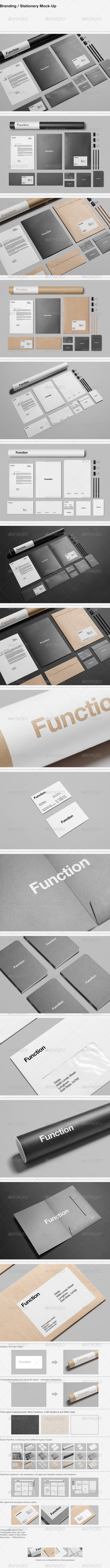 GraphicRiver Branding Stationery Mock-Up 5598480