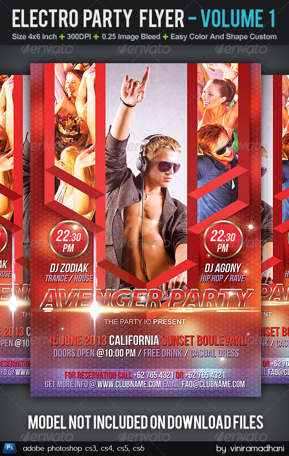 GraphicRiver Electro Party Flyer Volume 1 5598546