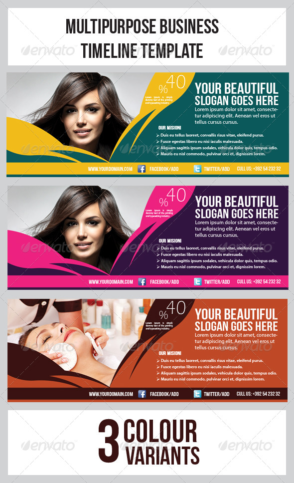 Hair & Beauty Salon Banner Timeline Template - Facebook Timeline Covers Social Media
