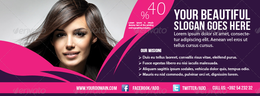 Hair amp Beauty Salon Banner Timeline Template By GraphicMS