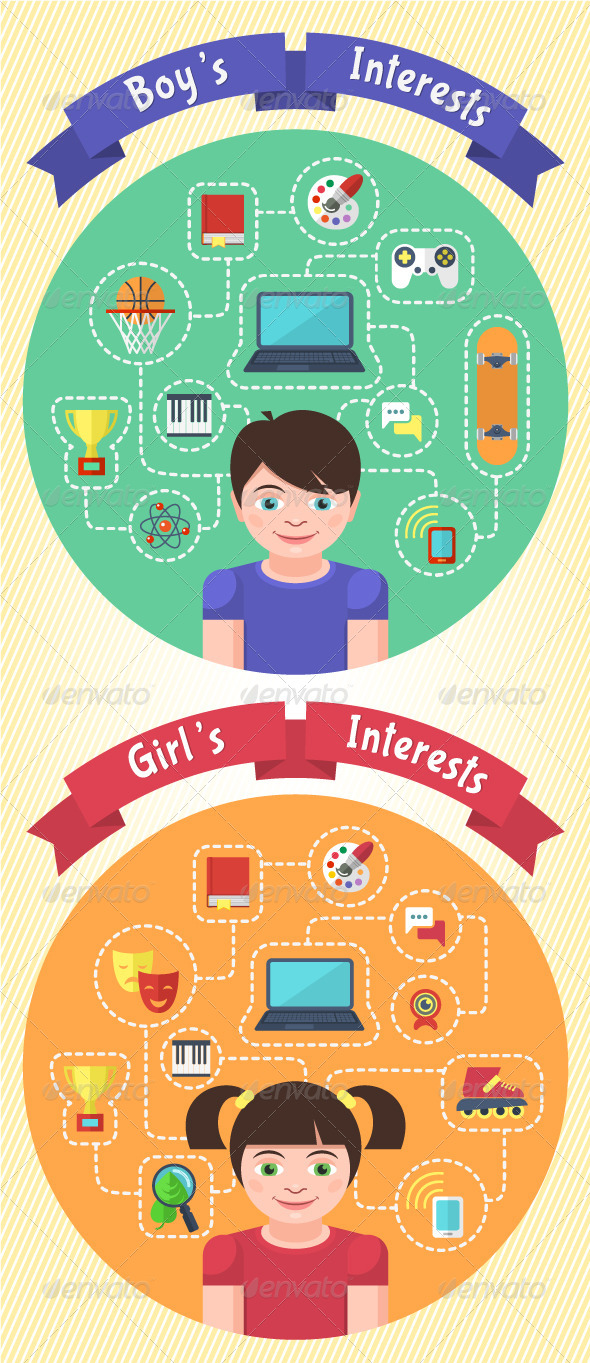 GraphicRiver Boy s and Girl s Interests 5598599