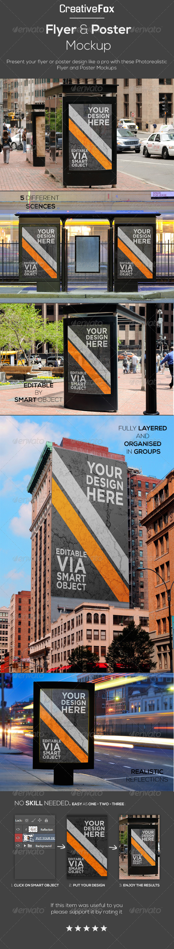 GraphicRiver Flyer & Poster Mockup 5598814