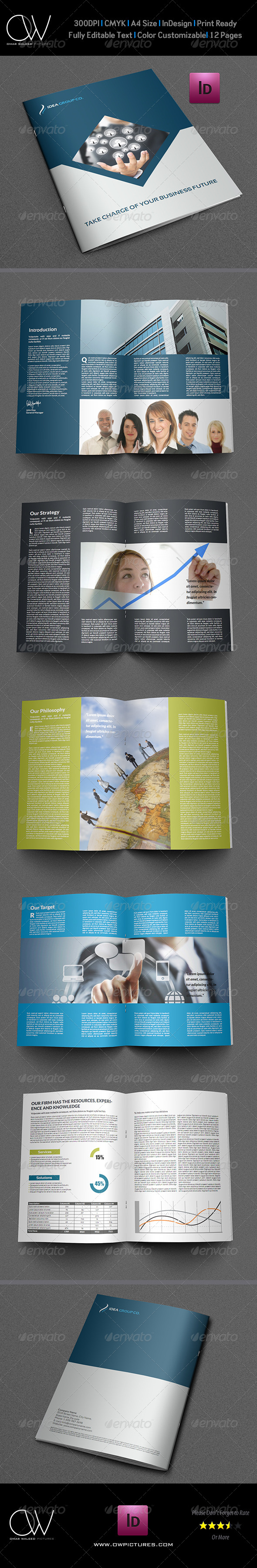 Company Brochure Template Vol.9 - 12 Pages - Corporate Brochures